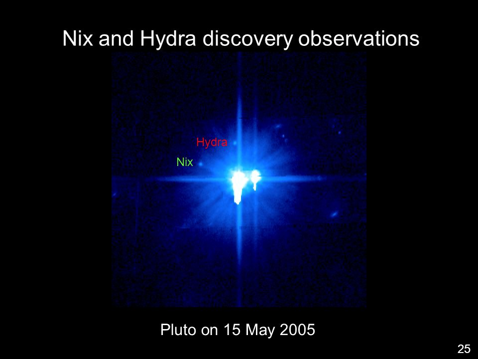 Hydra Nix Nix and Hydra discovery observations 25 Pluto on 15 May 2005