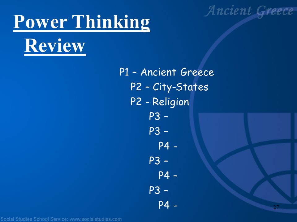 26 Passport Rubric Topic – Greek Gods/Goddesses Picture – related to topic Size of Picture Neatness Colored (no marker) Sentence – I drew __________,