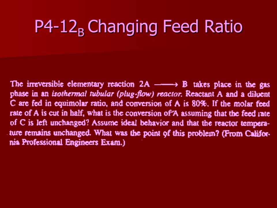 P4-12 B Changing Feed Ratio