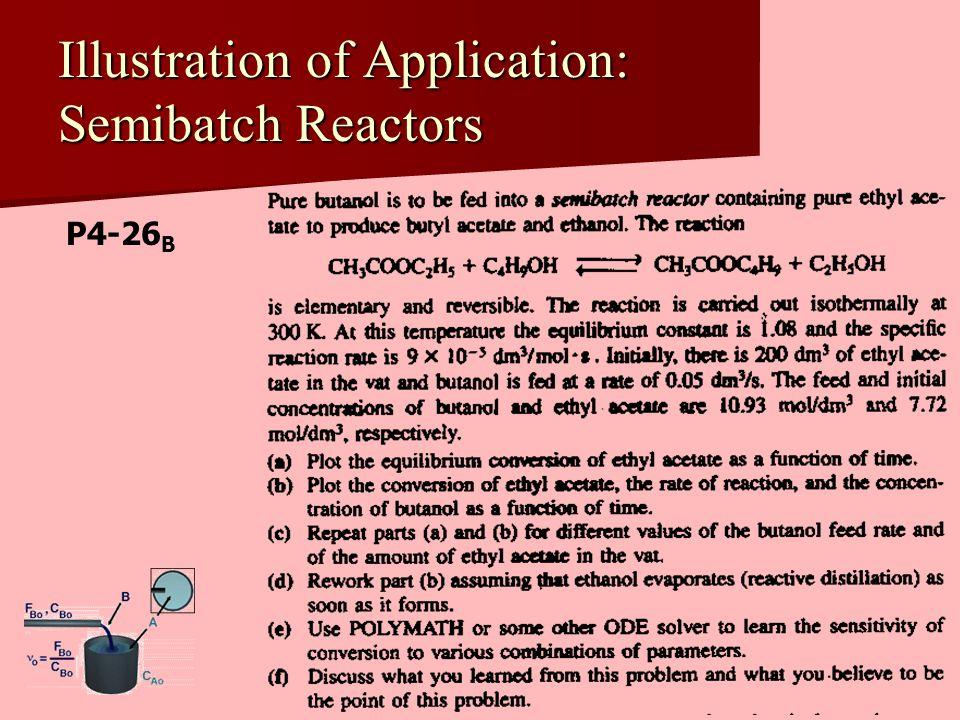 Illustration of Application: Semibatch Reactors P4-26 B