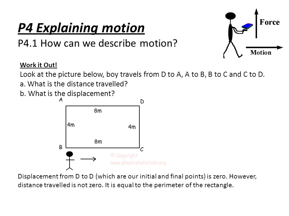 P4 Explaining motion P4.1 How can we describe motion.