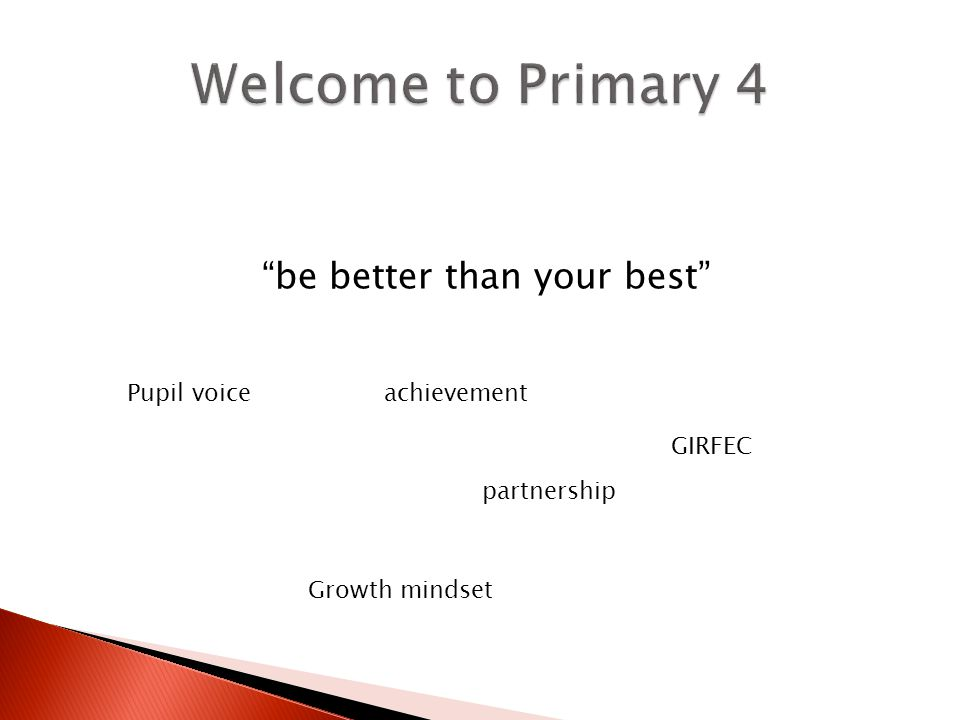 be better than your best Pupil voice partnership Growth mindset GIRFEC achievement