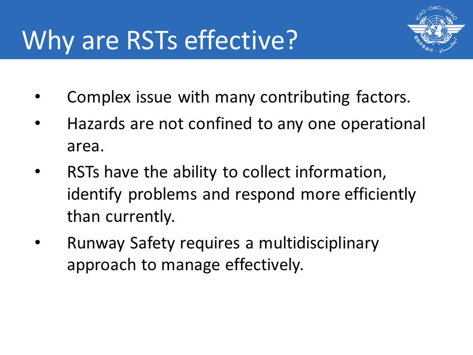 Why are RSTs effective. Complex issue with many contributing factors.