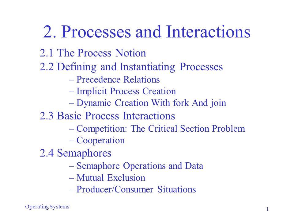 Bounded Buffer Problem semaphore e = n, f = 0, b = 1; cobegin Producer: while (1) { Produce_next_record; P(e); P(b); Add_to_buf; V(b); V(f); } // Consumer: while (1) { P(f); P(b); Take_from_buf; V(b); V(e); Process_record; } coend 42 Operating Systems