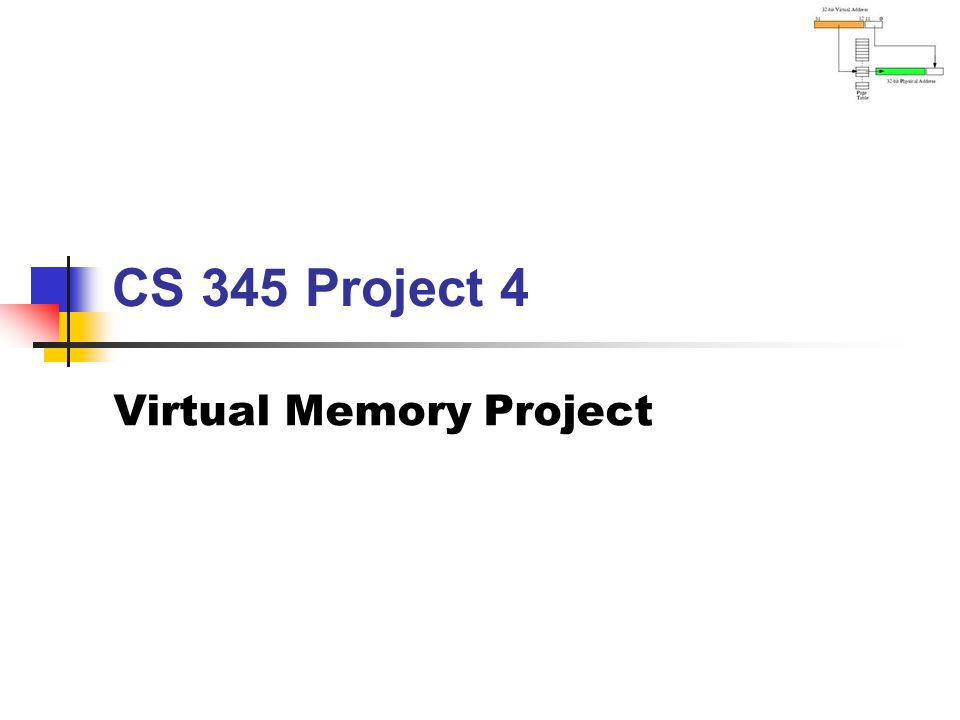 Virtual Memory Guidelines BYU CS 345Virtual Memory32 CrawlerMemtest Frames:320162320162 Accesses: Hits: Faults: Page Reads: Page Writes: Swap Pages: Demonstrate that LC-3 tasks run correctly.