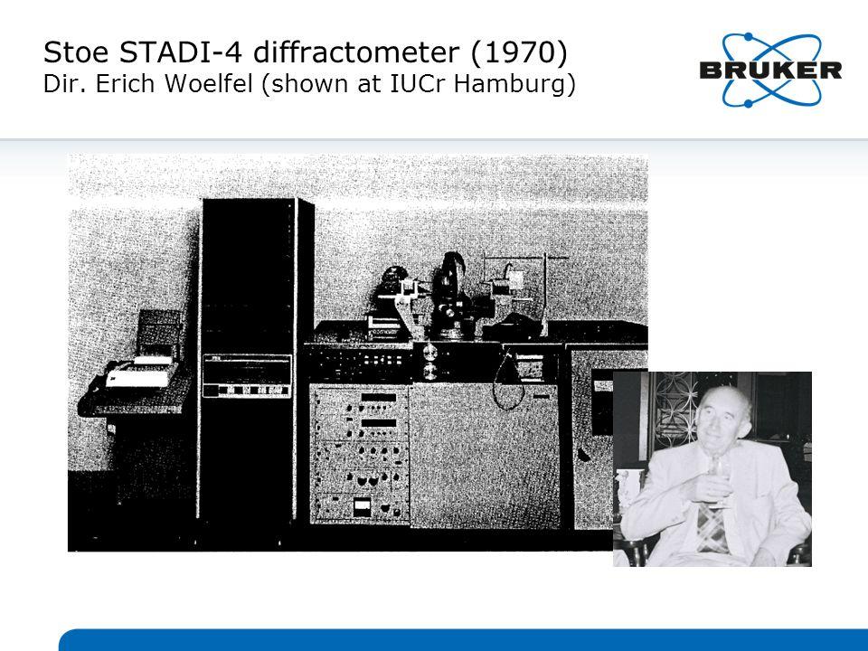 Stoe STADI-4 diffractometer (1970) Dir. Erich Woelfel (shown at IUCr Hamburg)