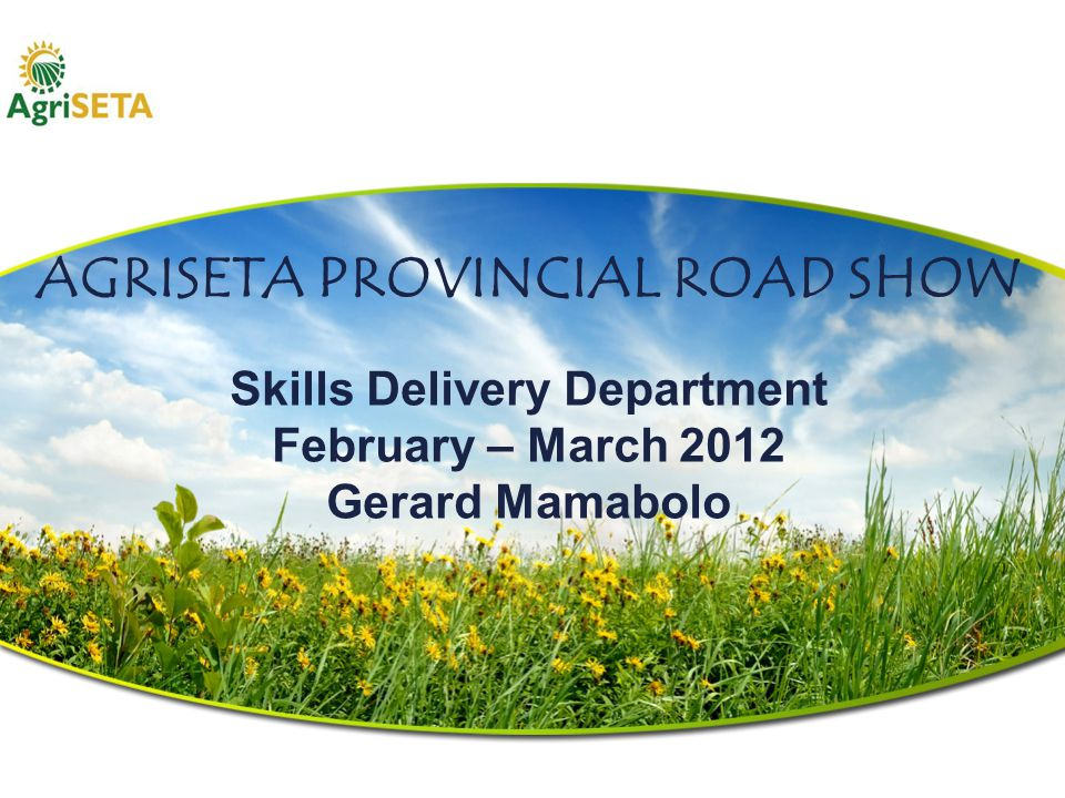 SKILLS DELIVERY DEPARTMENT Allocation of Discretionary Grants as per Service Level Agreement.