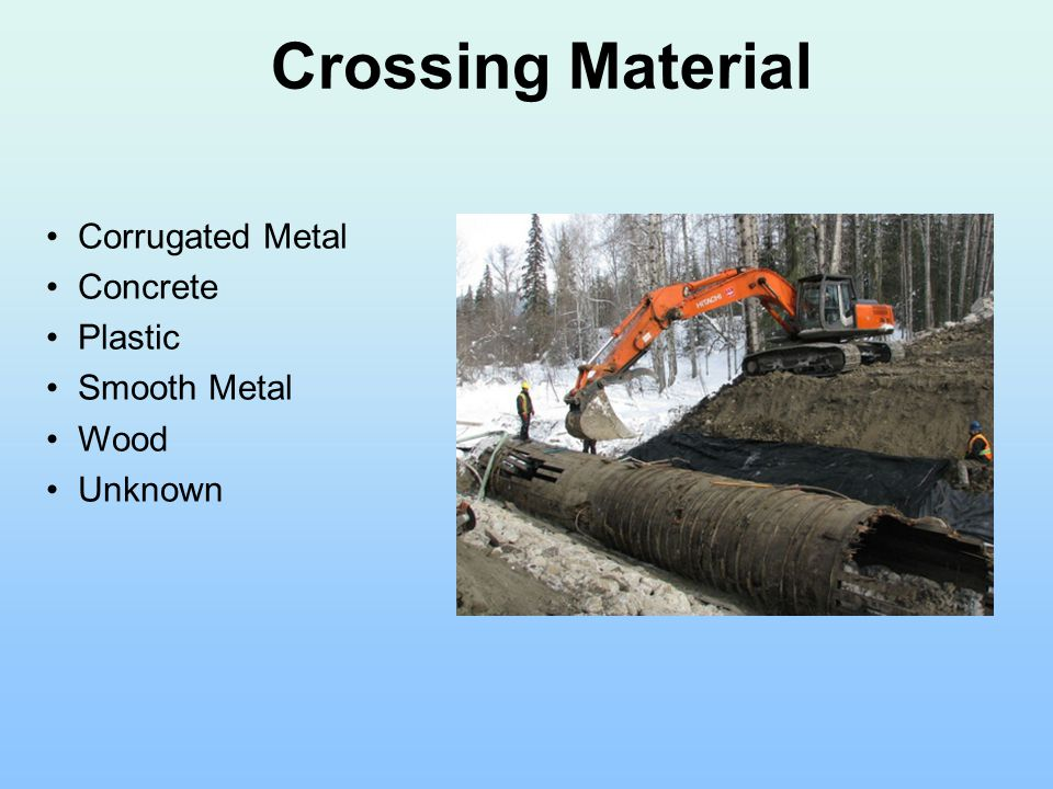 Corrugated Metal Concrete Plastic Smooth Metal Wood Unknown Crossing Material