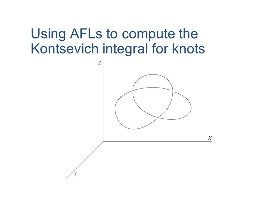 Using AFLs to compute the Kontsevich integral for knots