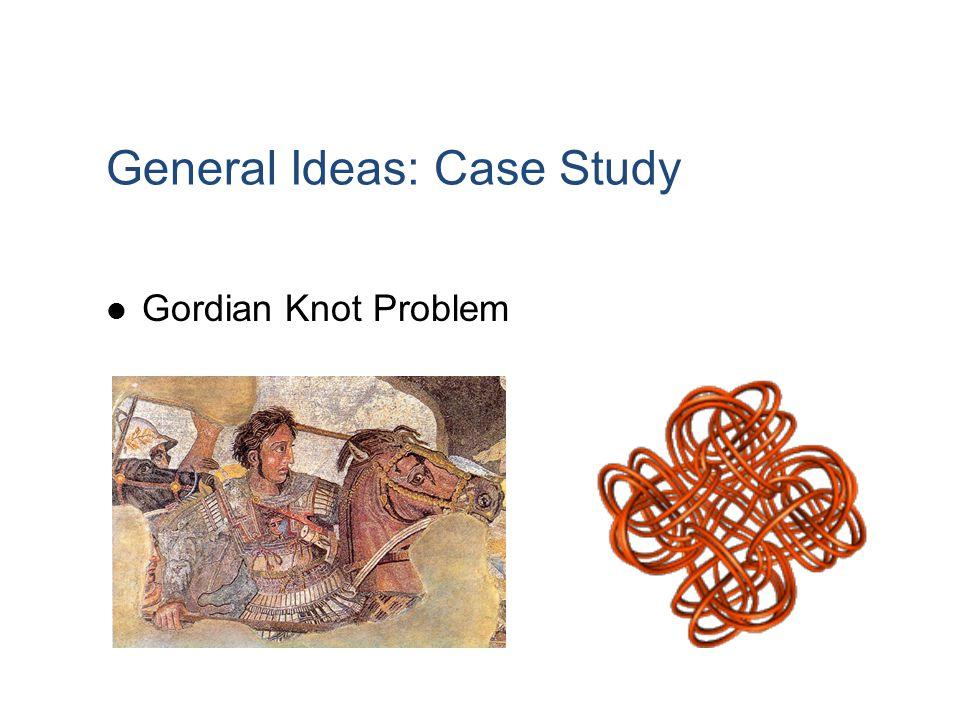 General Ideas: Case Study Gordian Knot Problem
