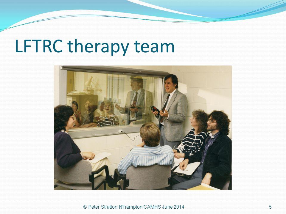 LFTRC therapy team © Peter Stratton N'hampton CAMHS June 20145