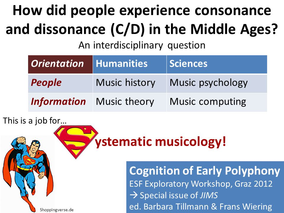 How did people experience consonance and dissonance (C/D) in the Middle Ages.