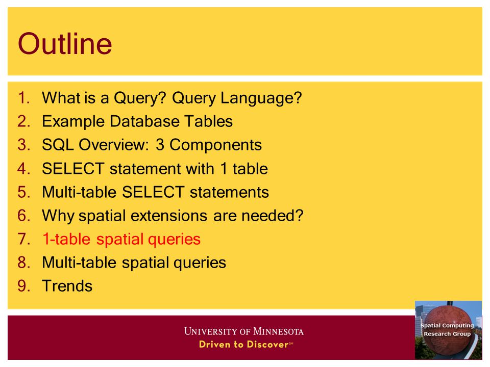 Outline 1.What is a Query. Query Language.