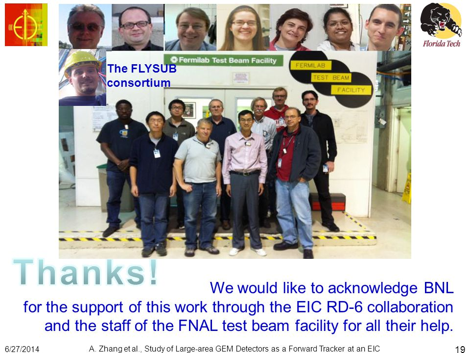 We would like to acknowledge BNL for the support of this work through the EIC RD-6 collaboration and the staff of the FNAL test beam facility for all their help.