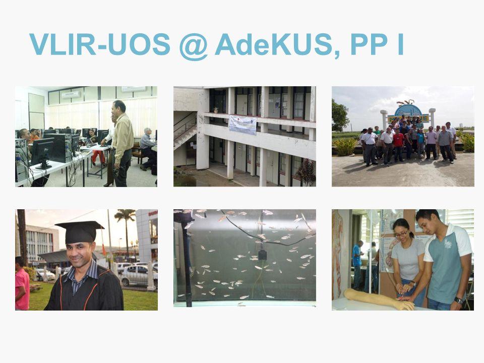 VLIR-UOS @ AdeKUS, PP I