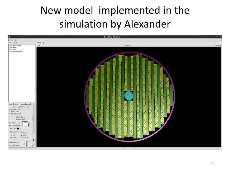 New model implemented in the simulation by Alexander 20