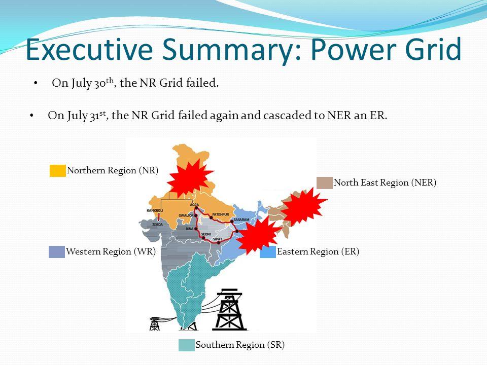 Executive Summary: Power Grid On July 30 th, the NR Grid failed.