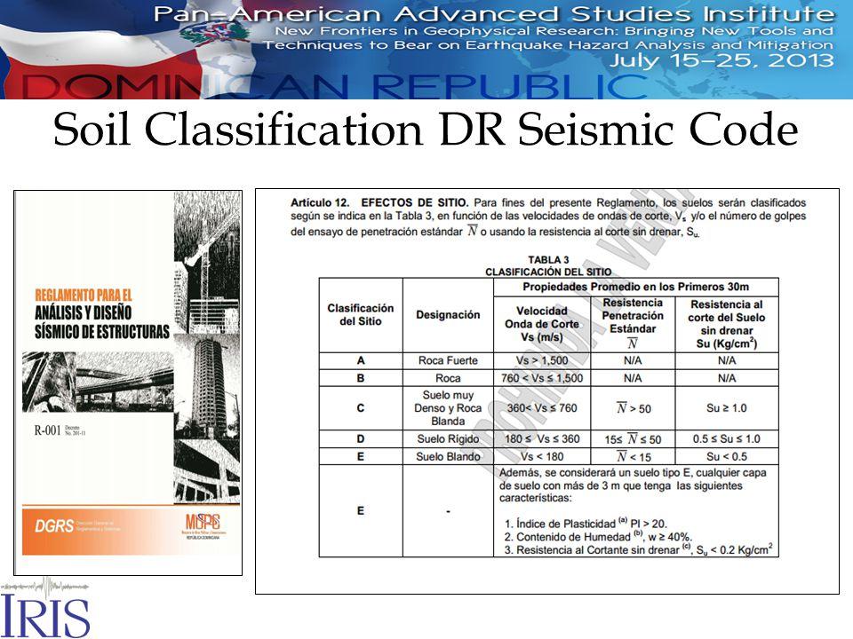 Soil Classification DR Seismic Code
