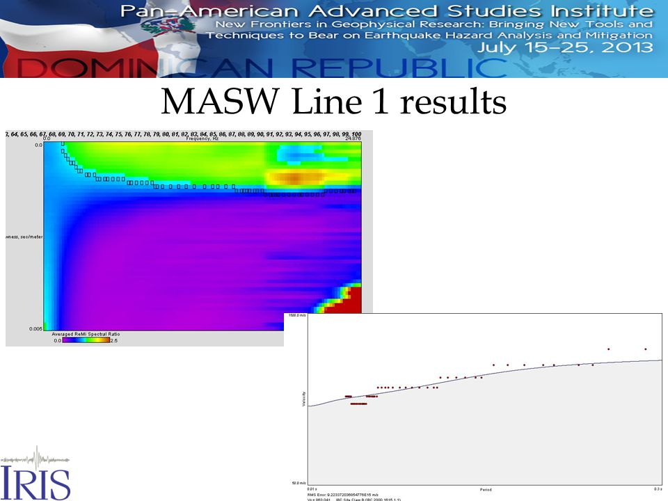 MASW Line 1 results