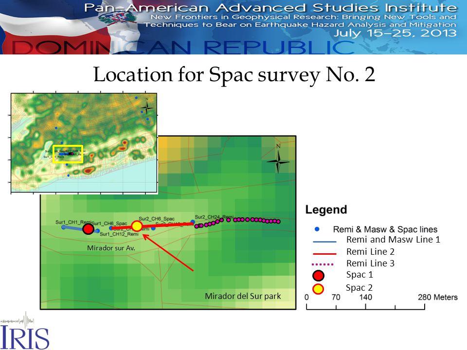 Location for Spac survey No. 2 Mirador sur Av.