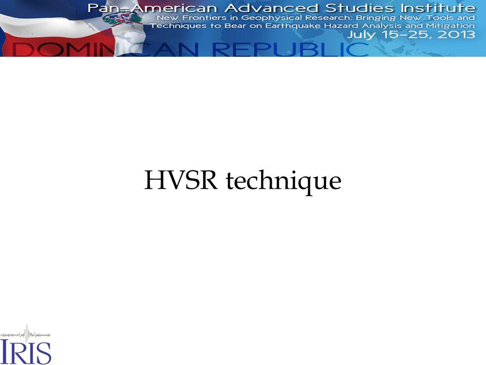 HVSR technique