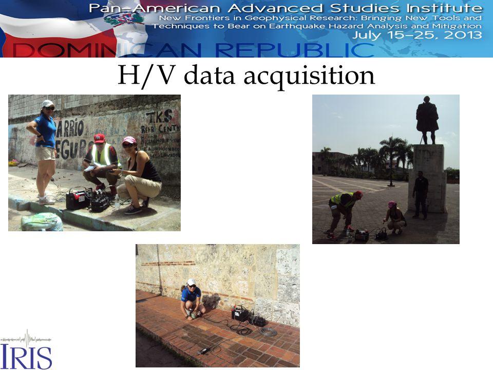 H/V data acquisition