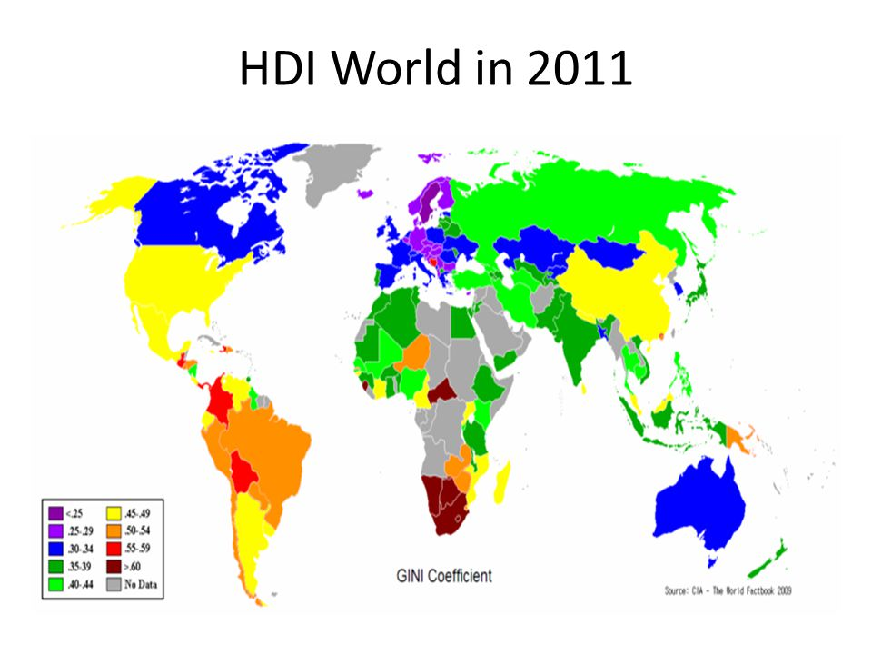 HDI World in 2011