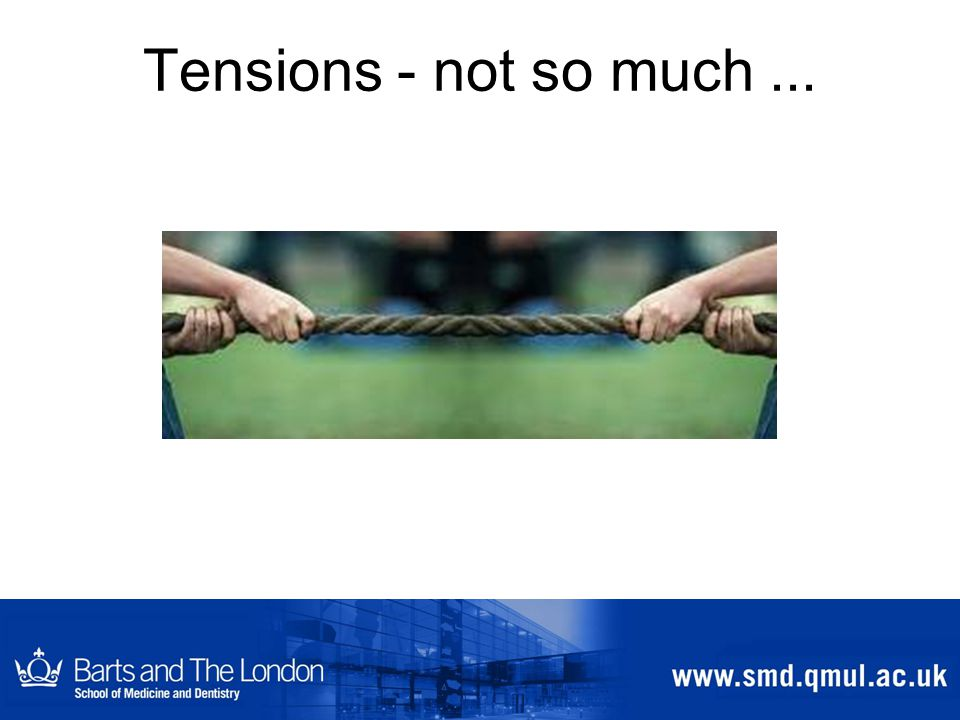 Tensions - not so much...