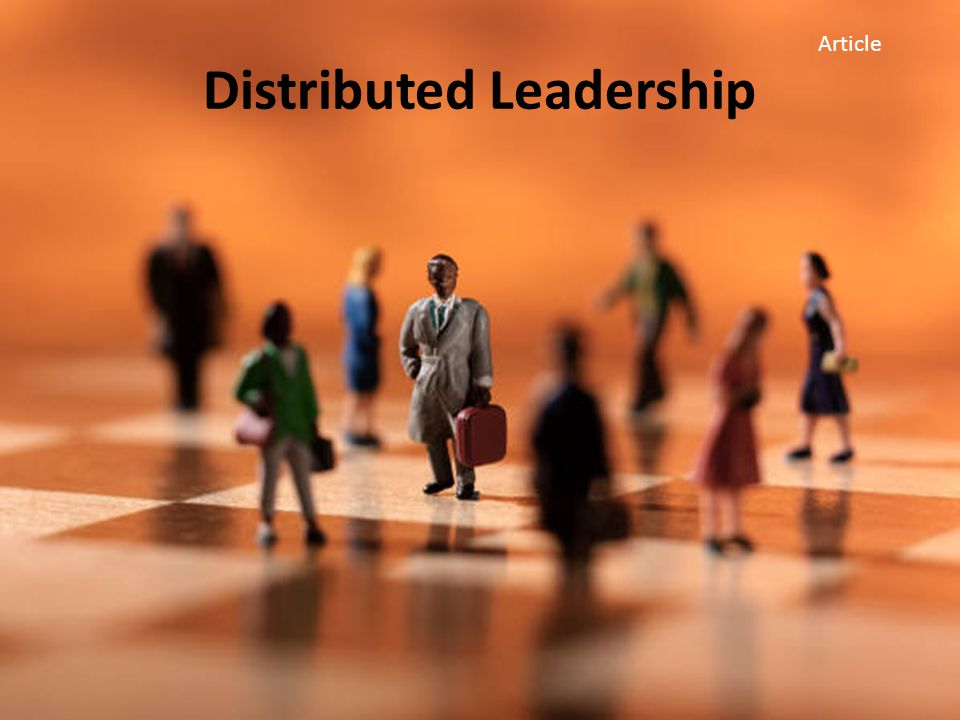 Distributed Leadership Article