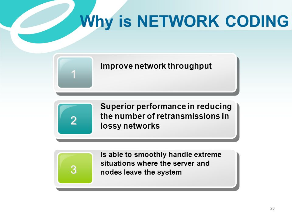 1 Improve network throughput 2 Superior performance in reducing the number of retransmissions in lossy networks 3 Is able to smoothly handle extreme s