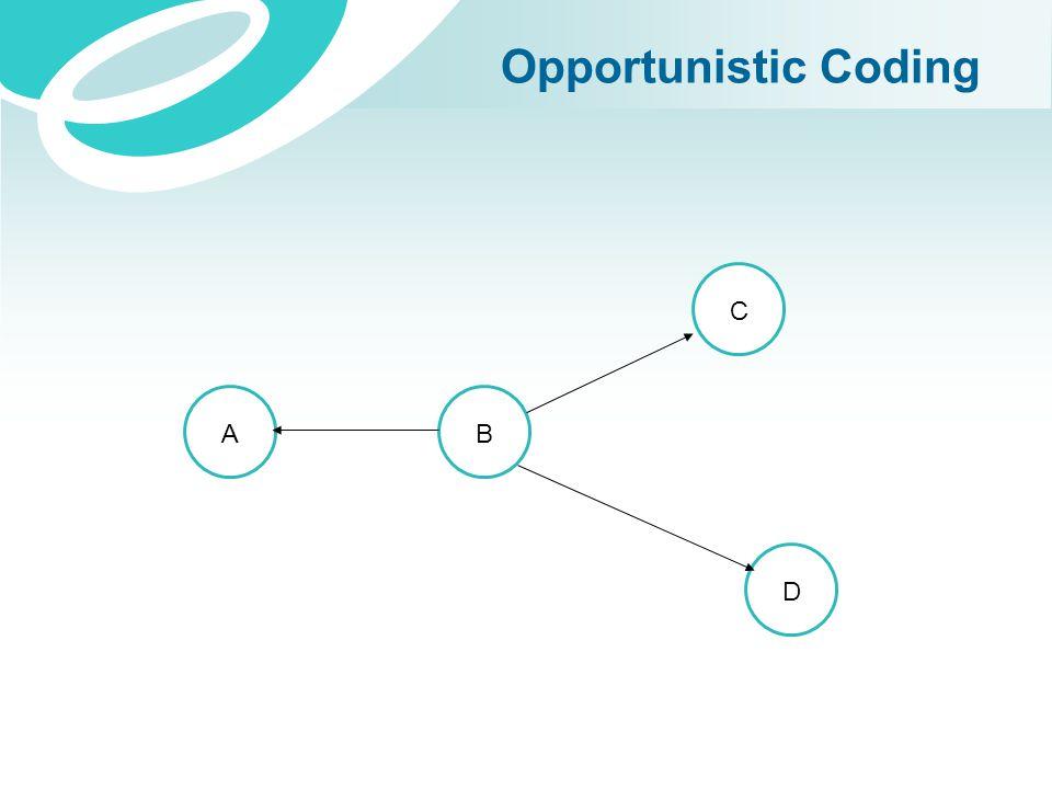 Opportunistic Coding AB C D