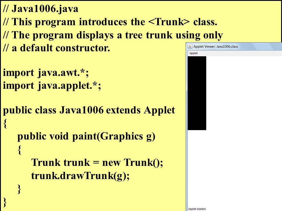 // Java1006.java // This program introduces the class.