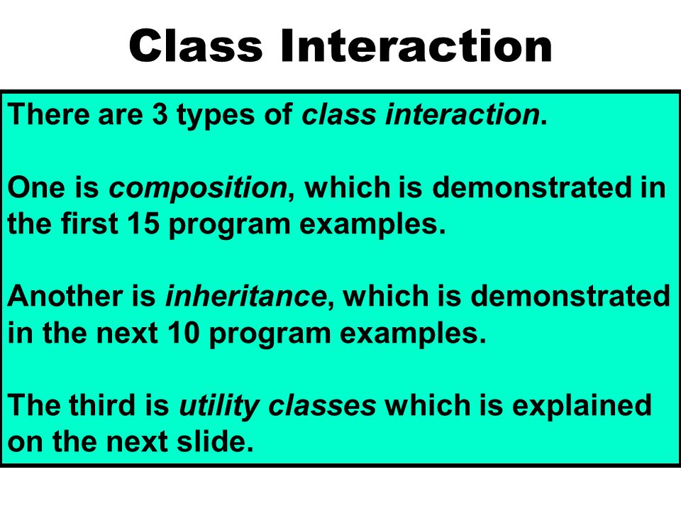 Utility Classes You have actually been working with Utility classes for a while.
