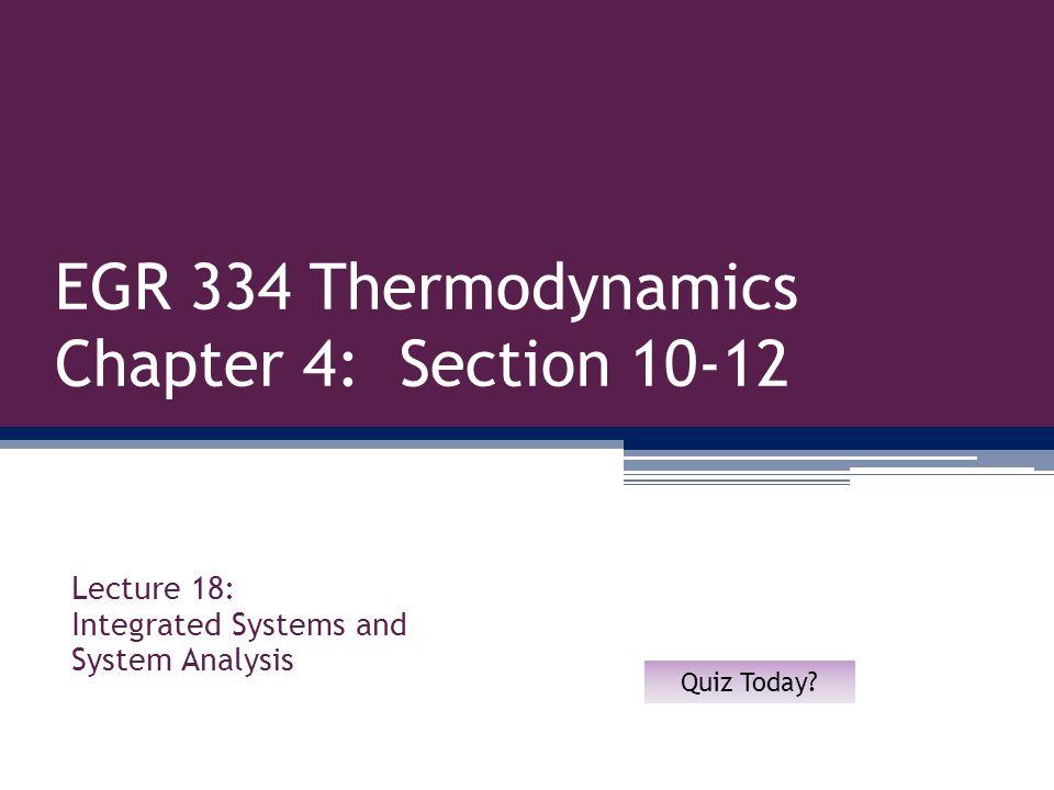12 Sec 4.11: System Integration Refrigeration Cycle 1.