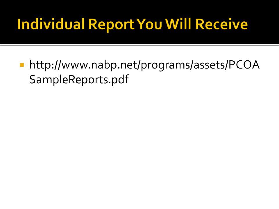 http://www.nabp.net/programs/assets/PCOA SampleReports.pdf