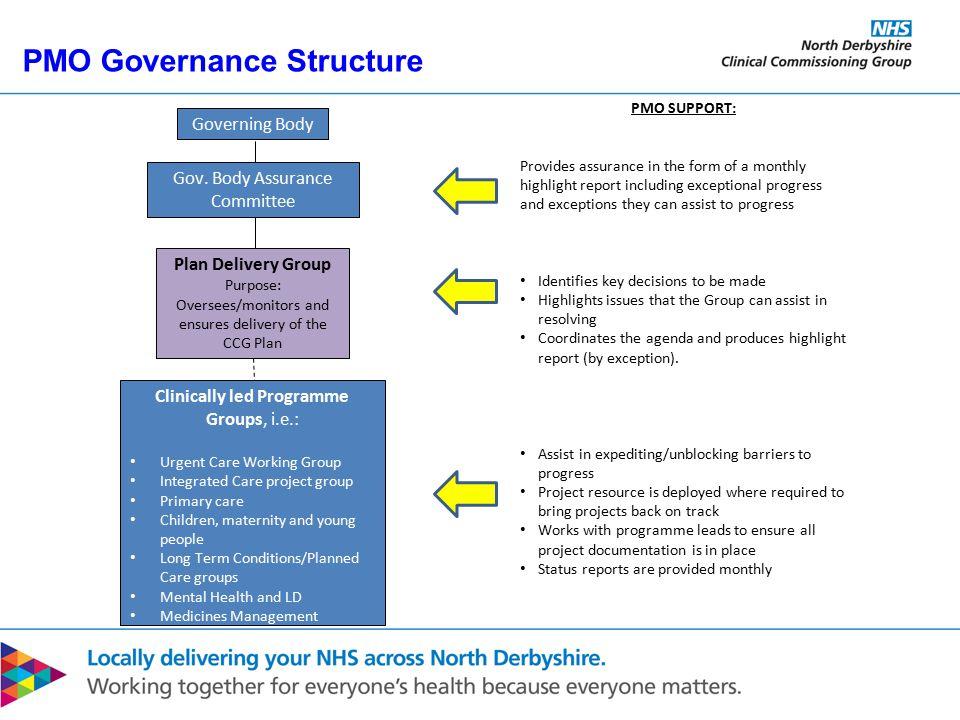 PMO Governance Structure Governing Body Gov.