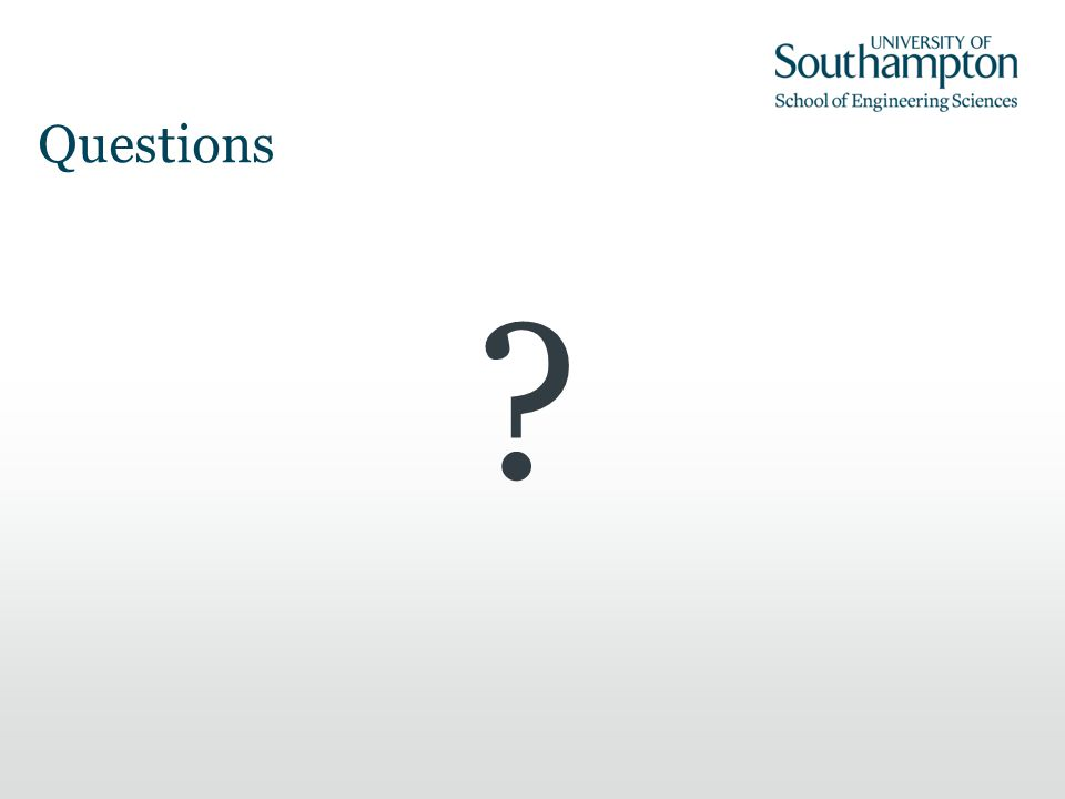 Questions ? Thank you for your attention.