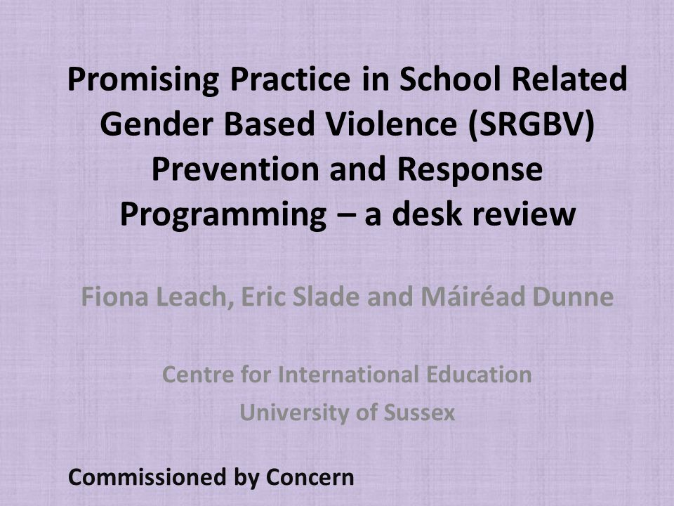 Why is School Related Gender Based Violence (SRGBV) important.