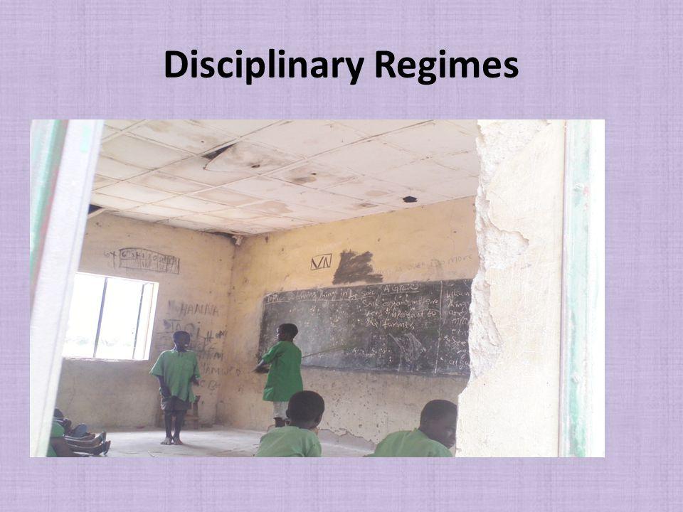 Disciplinary Regimes
