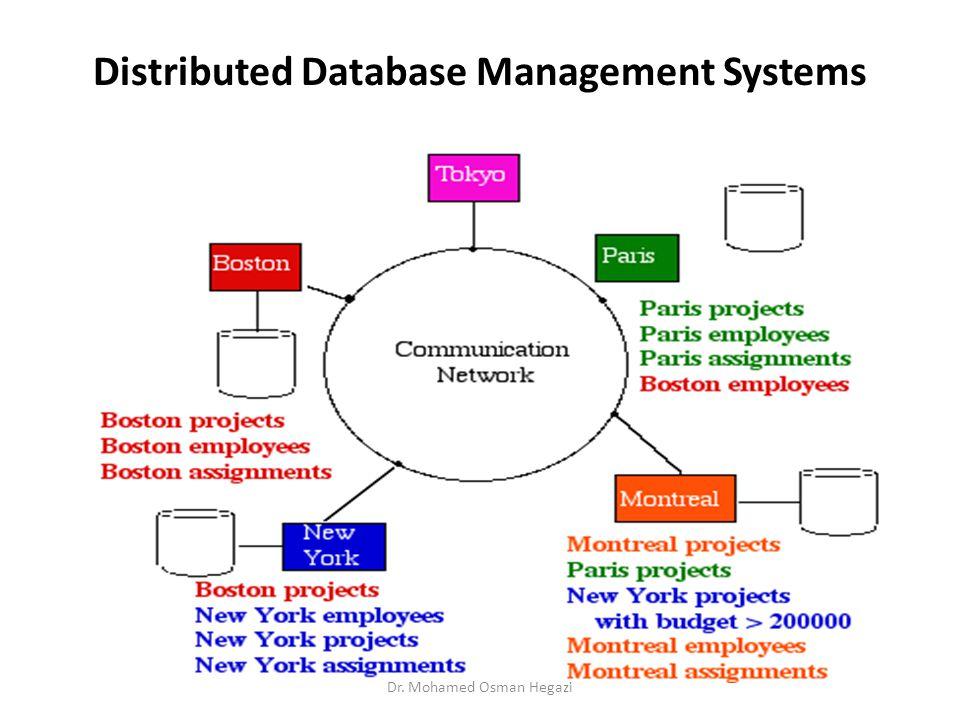 Distributed Database Management Systems Dr. Mohamed Osman Hegazi