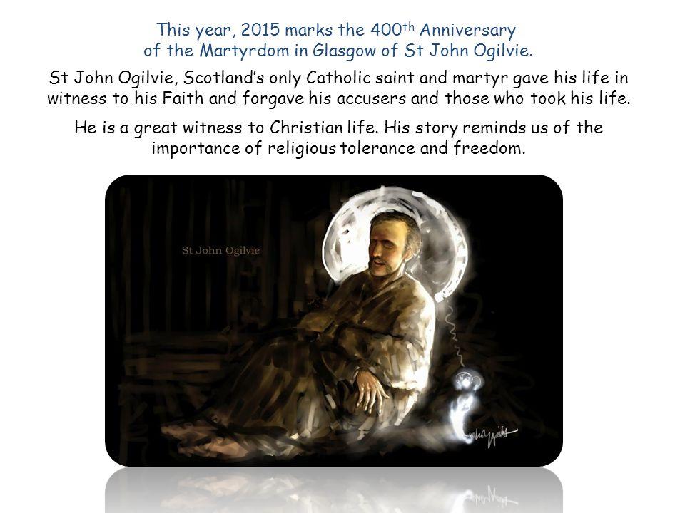 Edinburgh bound In the New Year of 1614, Fr John Ogilvie travelled to Edinburgh.