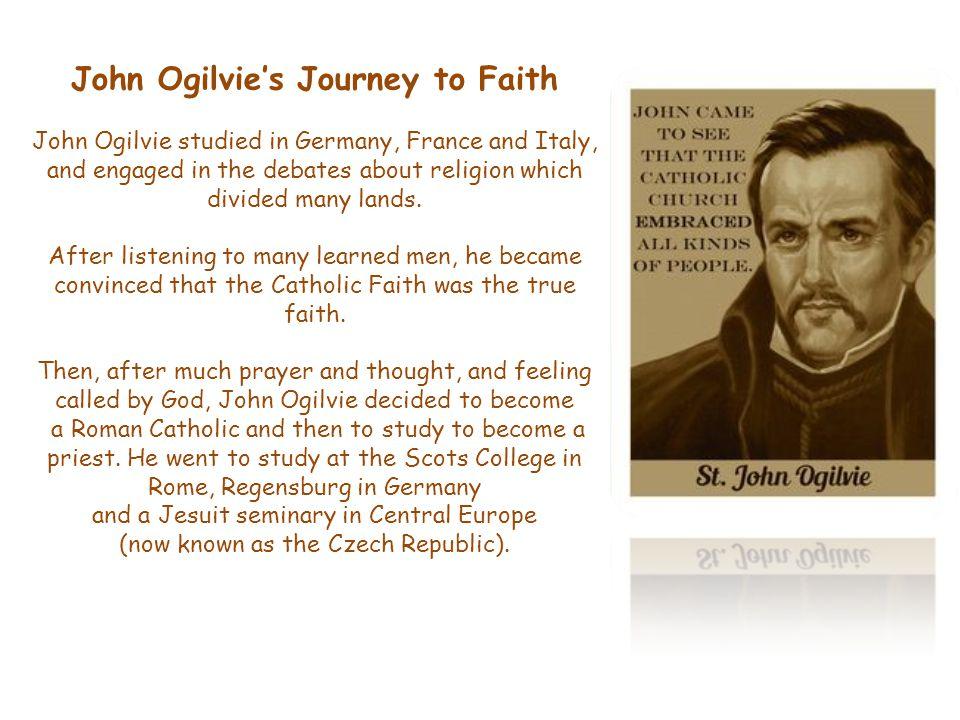 The National Shrine to St John Ogilvie is in St Aloysius' Church Garnethill.