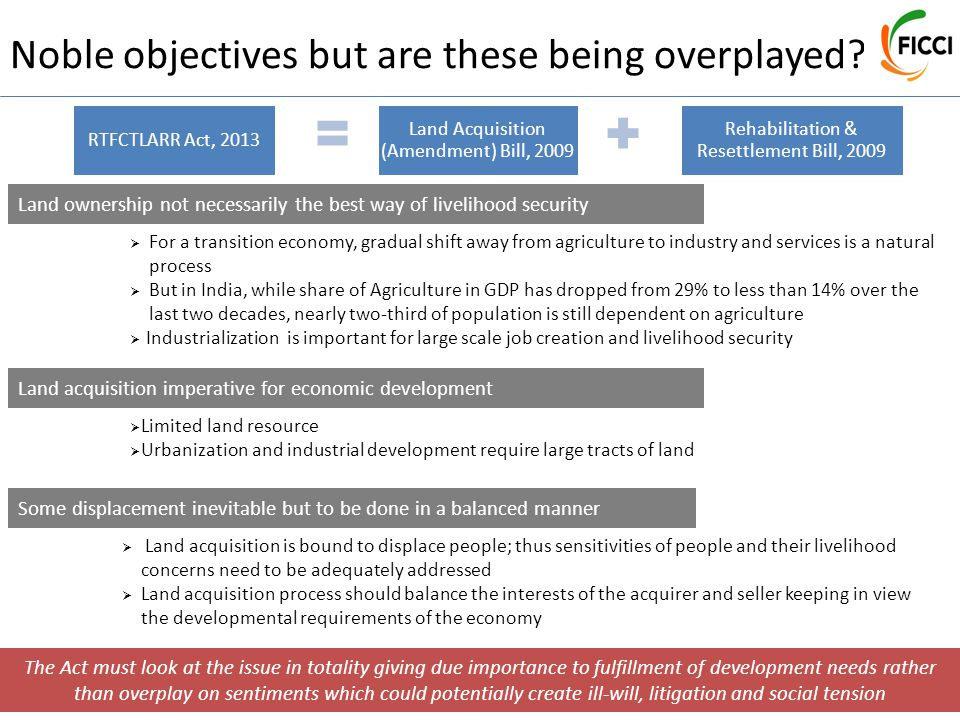 Noble objectives but are these being overplayed.