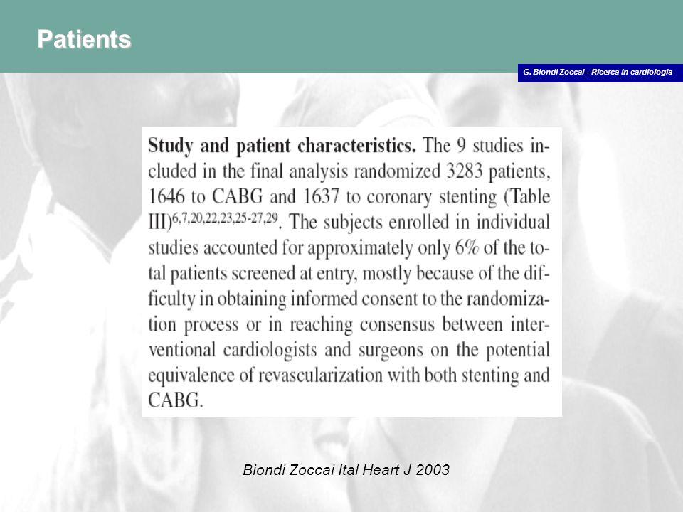 Patients Biondi Zoccai Ital Heart J 2003