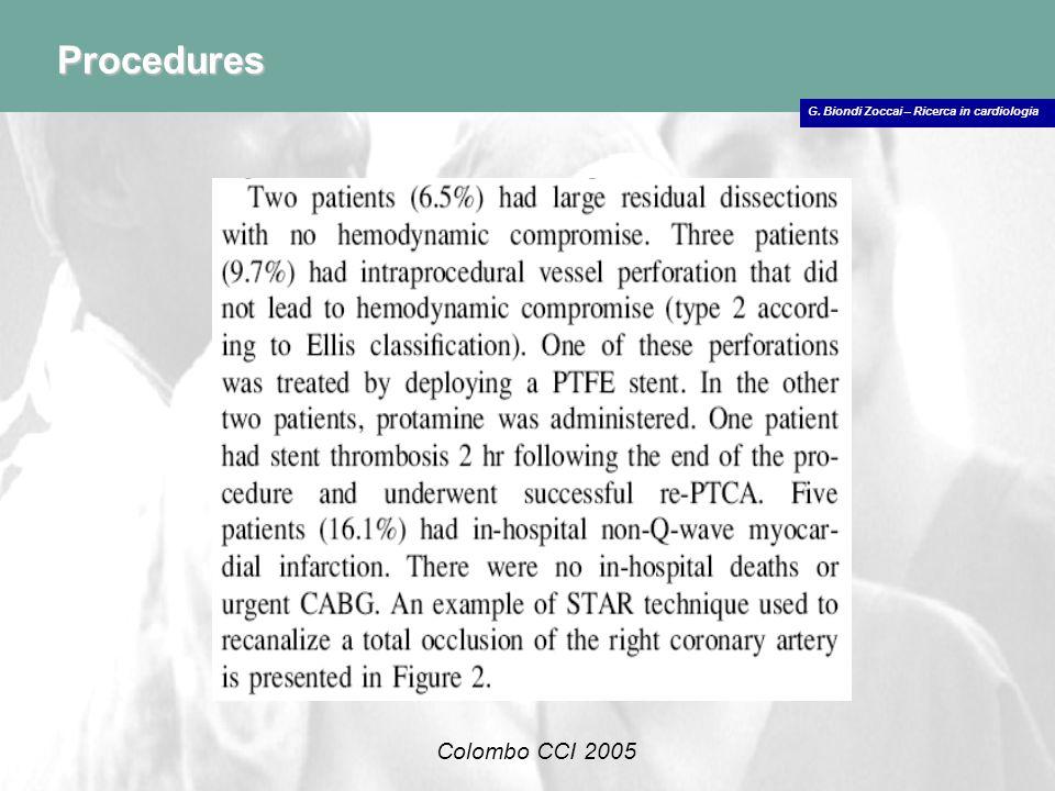 Procedures Colombo CCI 2005