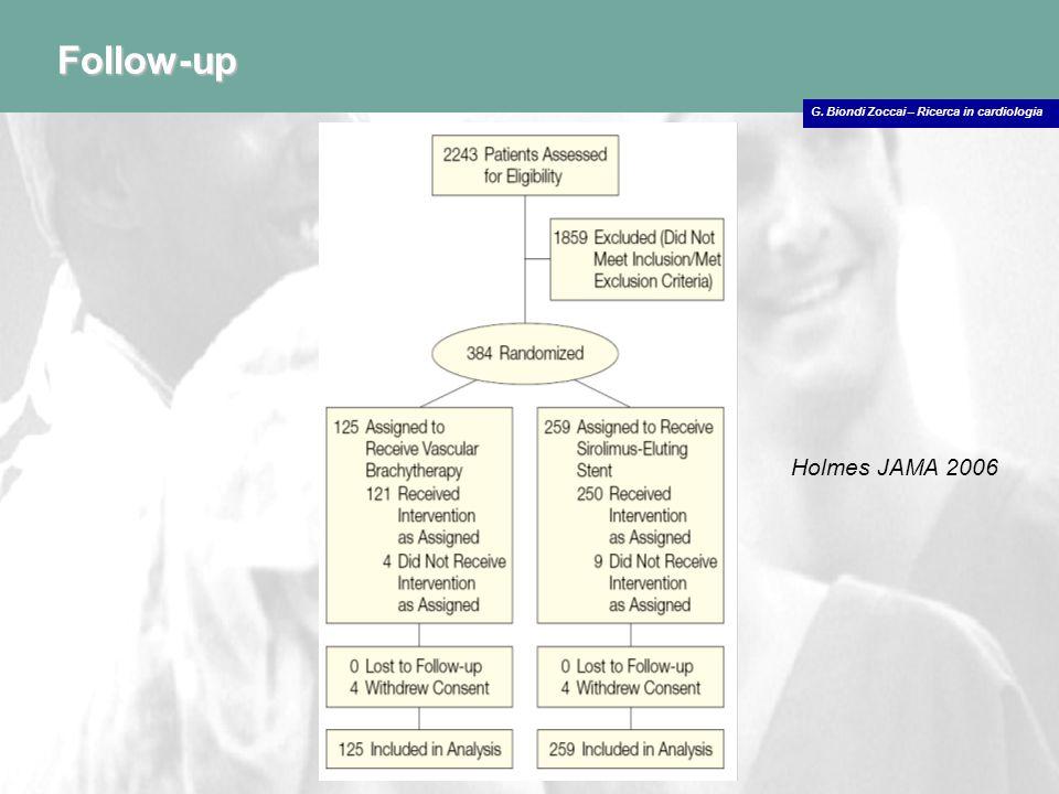 G. Biondi Zoccai – Ricerca in cardiologia Follow-up Holmes JAMA 2006