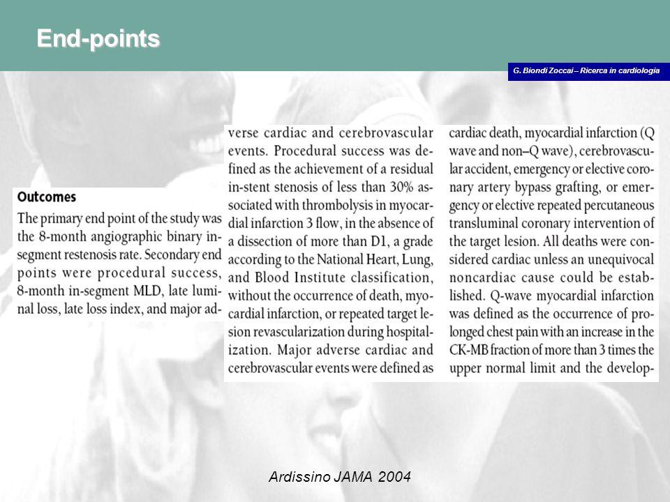 G. Biondi Zoccai – Ricerca in cardiologia End-points Holmes JAMA 2006