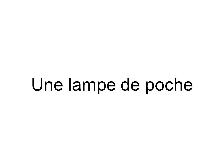 Une lampe de poche