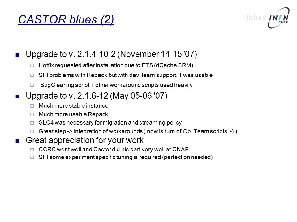 CASTOR blues (2)‏ Upgrade to v.