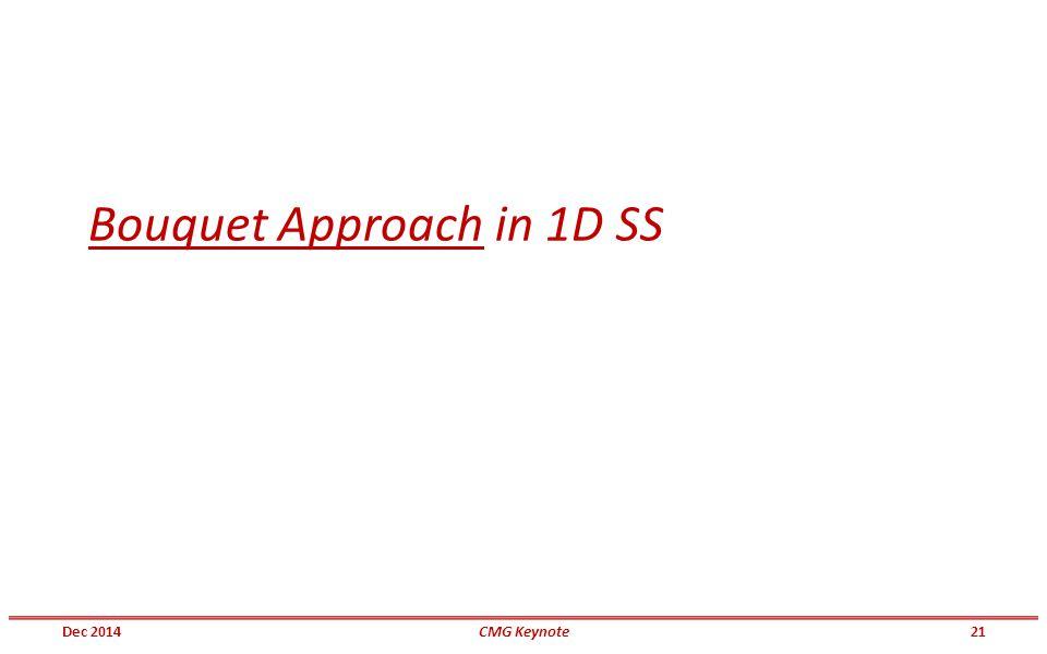 Bouquet Approach in 1D SS Dec 201421CMG Keynote